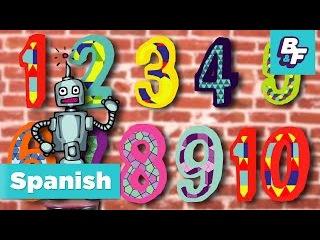 Numbers Song in Spanish. Cancion de los Numeros de BASHO FRIENDS