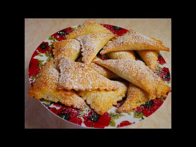 ВЫПЕЧКА без дрожжей ТВОРОЖНОЕ тесто рецепт БЕЗ яиц БЕЗ сахара КОНВЕРТИКИ с ВИШНЕЙ baking
