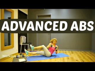 RU66-24 Minute Advanced Abs Workout Flat Toned Stomach And Total Body Exercises Level 3