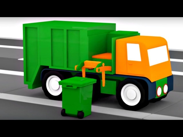 🚗🚗CARROS🚗🚗Um Caminhão de lixo! 4 Carros coloridos. Desenhos animados para crianças. DesenhosCarros