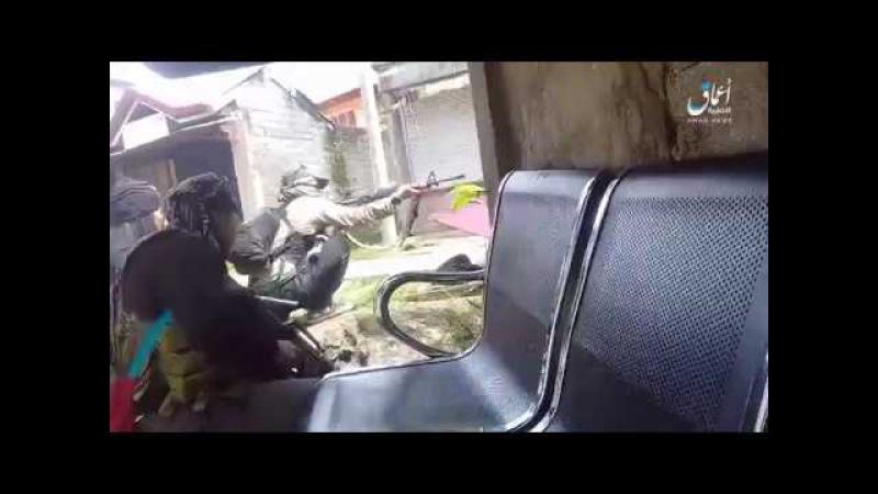 Кадры боев боевиков Исламского Государства в Марави. Филиппины