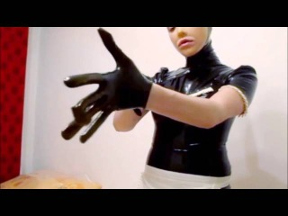 Latex housewife – dressing up french maid costume - full video