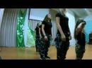 Военный танец. Ученицы СШ № 23. г. Костанай.