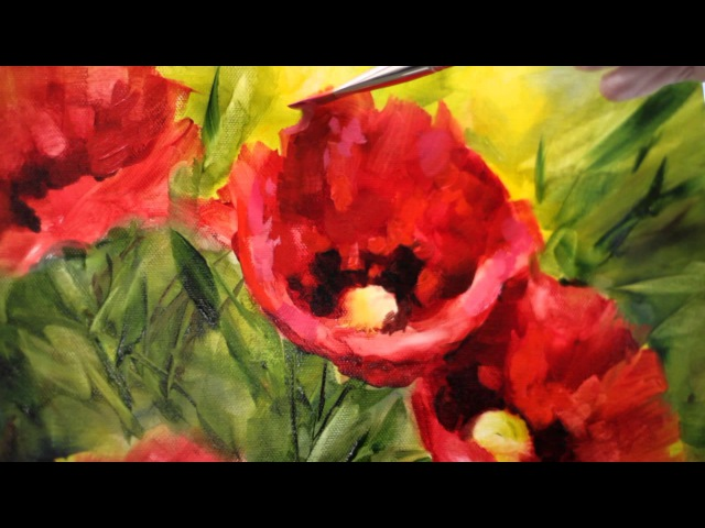 How to Paint Brilliant Poppies in Oils - Nancy Medina Art Videos and Classes