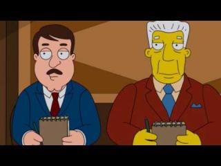 Гриффины попали в мир Симпсонов 2 Часть (Проф.Озвучка)