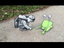 Quirky Anamorphic Street Art Characters by David Zinn