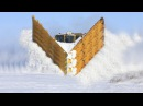 Awesome Powerful Snow Plow Train Blower Through Deep Snow railway tracks Full HD Crash Compilation