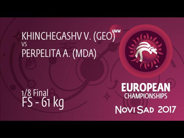1/8 FS - 61 kg: V. KHINCHEGASHV (GEO) df. A. PERPELITA (MDA), 5-1