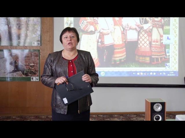 Слово директора музея Чугуевки на открытии выставки русского народного костюма