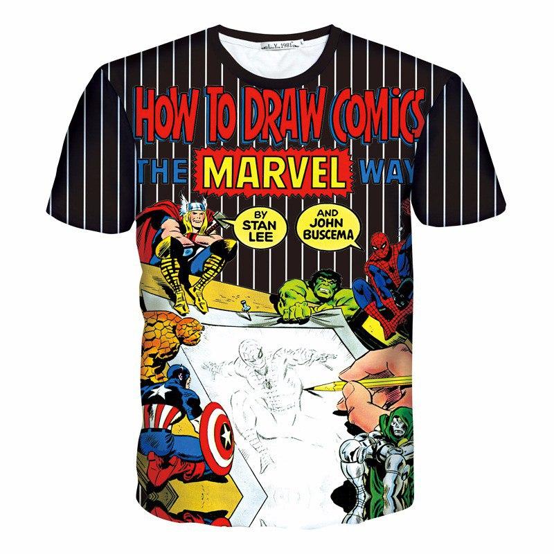 Футболка How to draw comics Marvel
