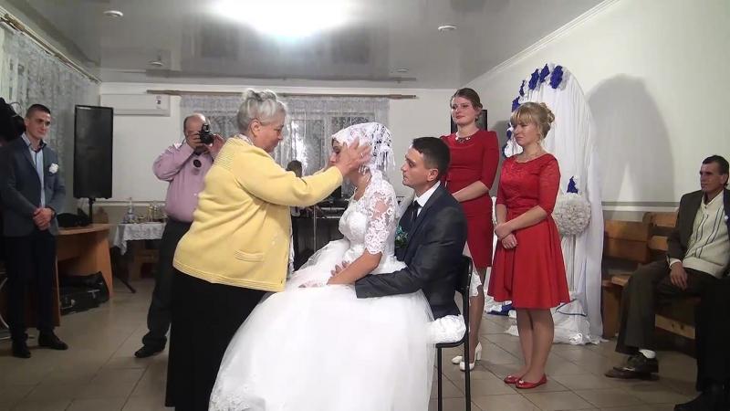 11-обряд зняття вельона-весілля в Бурштині Богдан та Галя 14 10 2017Р