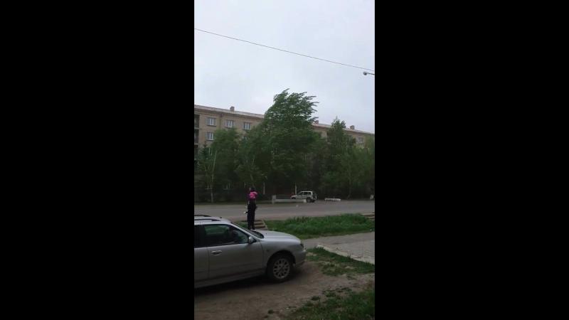 Пыльная буря, город Щучинск