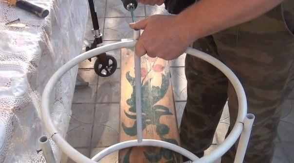 Кустодержатель из пластиковых труб своими руками