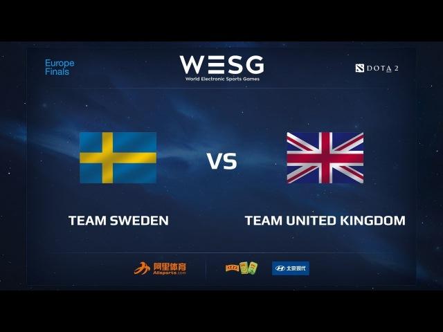 Team Sweden vs Team UK, WESG 2017 Dota 2 European Qualifier Finals