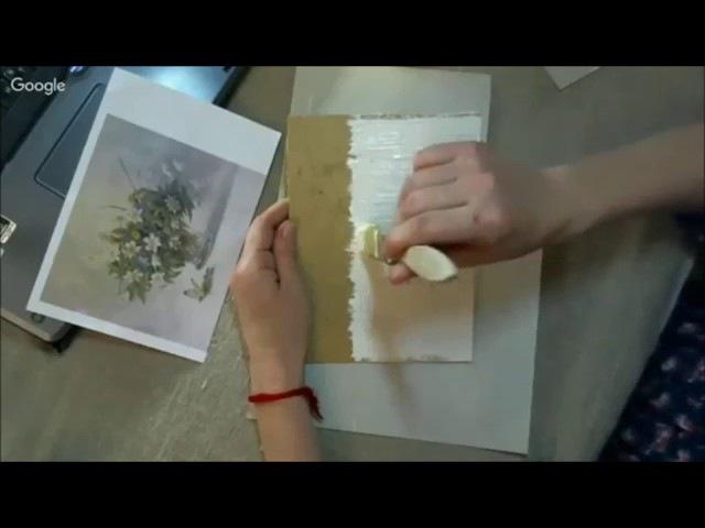 Создание сложного фактурного фона, имитирующего дерево Раушания Нуретдинова Университет Декупажа