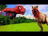 Spiderman Dinosaurs Vs Dinosaurs Real Fights  3D Spiderman Dinosaurs Cartoons Movies For Children