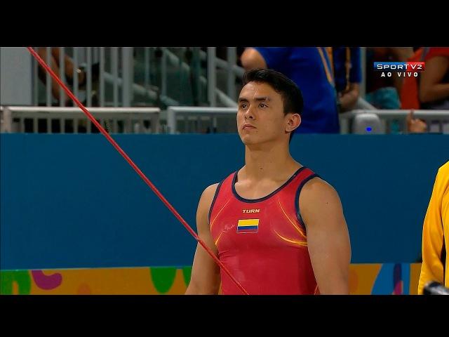 Панамериканские игры 2015. Спортивная гимнастика. Мужчины. Индивидуальное многоборье. Йоссимар Кальво (Колумбия, бронза) - перек