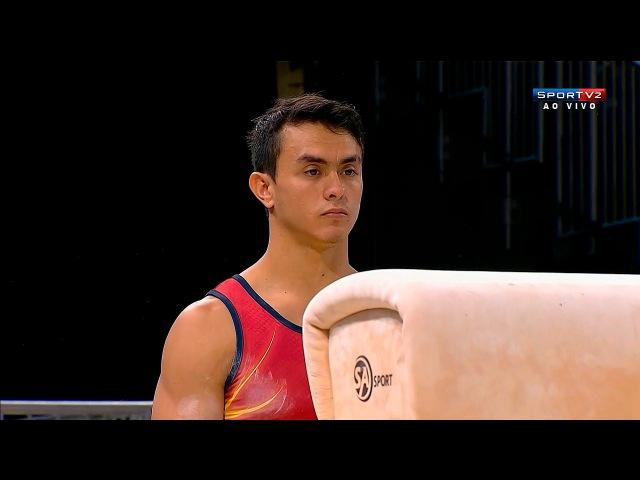Панамериканские игры 2015. Спортивная гимнастика. Мужчины. Индивидуальное многоборье. Йоссимар Кальво (Колумбия, бронза) - конь