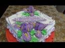 Украшение тортов кремом Торт с стиле ЛАМБЕТ Мастер класс по цветку ИРИС Cake decoration