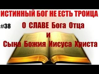 38 О славе Бога Отца и Сына Божия Иисуса Христа. Истинный Бог НЕ есть троица.