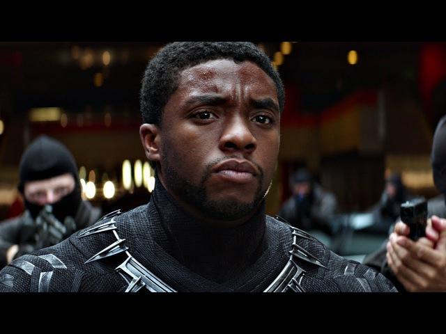 Чёрная Пантера гонится за Баки. Погоня в туннеле. Первый мститель: Противостояние. 2016
