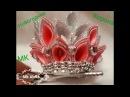 MK Новогодняя корона Канзаши от Аleks. MK New Year Crown of Kansas from Alex.
