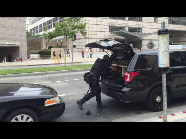 LAPD S.W.A.T Officer turns out for shooting At UCLA