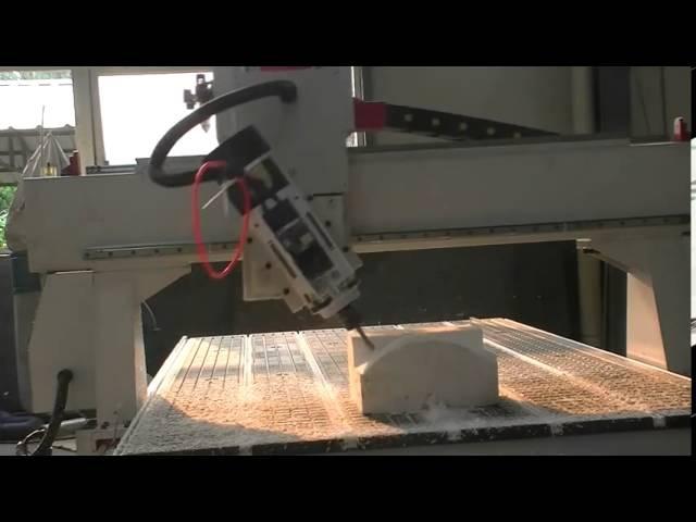 Мебельное производство-4-х осевой фрезерный станок с ЧПУ с автоматической смено ...