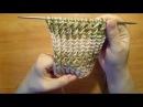 Вязание спицами: резинка Косые петли. szydełkowanie )(gum spokes slant loop ) πλέξιμο)