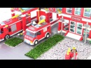 Пожарная станция 911 аналог Лего. Играем в конструктор Brick с машинками Fire Rescue