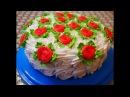 Шоколадно бисквитный ТОРТ со СЛИВОЧНЫМ кремом Очень ВКУСНЫЙ и СОЧНЫЙ торт Рецепт торта Украшение