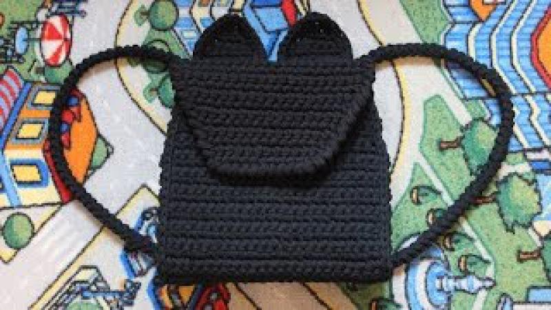 Рюкзак Кошка крючком из трикотажной пряжи. Мастер-класс. Часть 1.