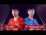Table Tennis  YAN An Vs LIN Gaoyuan  Final Austrian Open 2017  Match Highlights