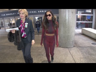 Nicole Scherzinger Turns Heads In Body-Hugging Outfit At LAX