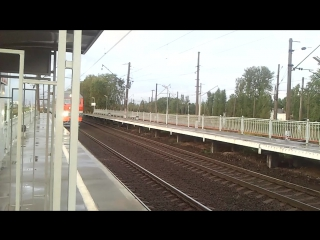 """ТЭП70бс с фирменным поездом """"Звязда"""", Витебское направление."""