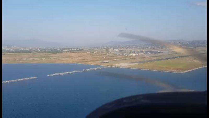 Landing SKG airport Macedonia Thessaloniki. Cessna
