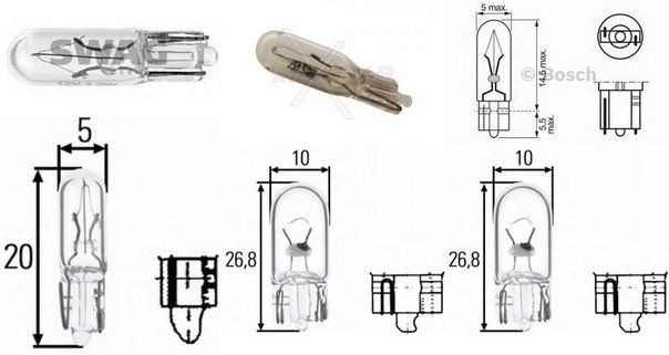 Лампа накаливания, освещение щитка приборов; Лампа накаливания для AUDI CABRIOLET (8G7, B4)