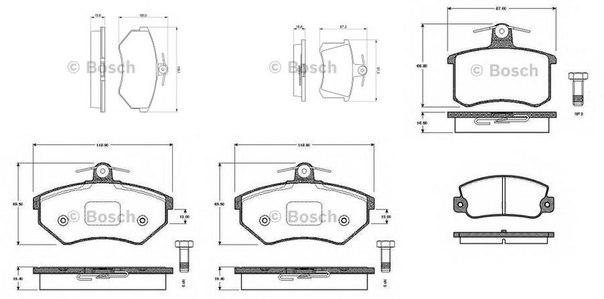 Комплект тормозных колодок для AUDI CABRIOLET (8G7, B4)