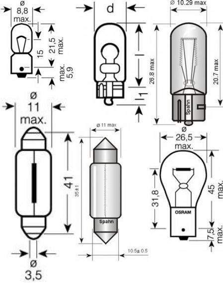 Лампа накаливания, фонарь освещения номерного знака для AUDI CABRIOLET (8G7, B4)