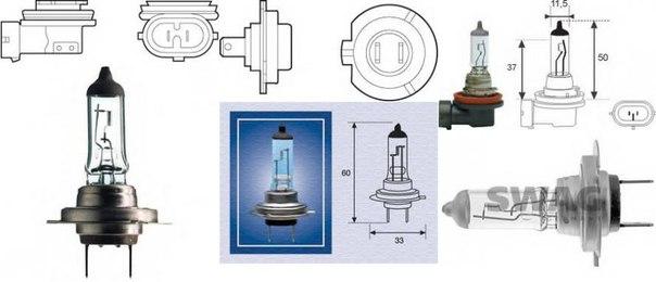 Лампа накаливания, противотуманная фара; Лампа накаливания для AUDI Q3 (8U)