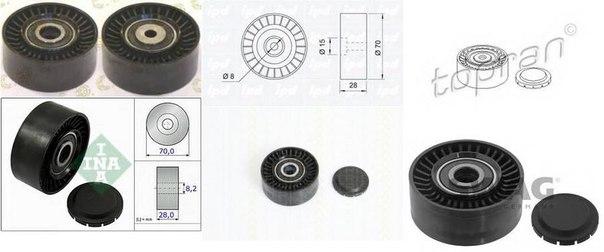 Паразитный / ведущий ролик, поликлиновой ремень для AUDI Q5 (8R)