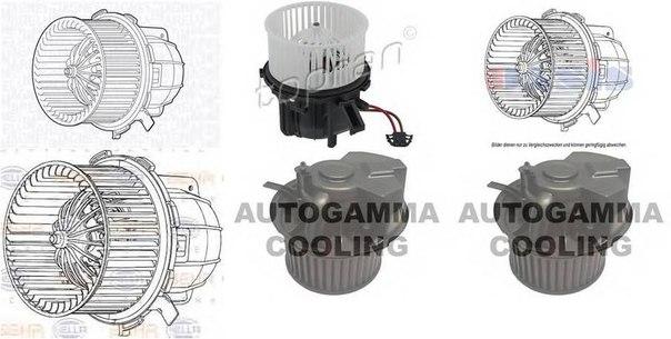 Вентилятор салона для AUDI Q5 (8R)