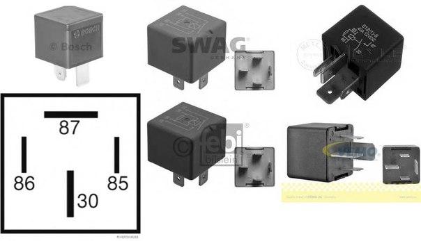 Реле, рабочий ток; Реле, стеклоподъемник; Многофункциональное реле для AUDI QUATTRO (85)