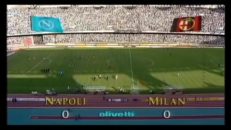 Napoli vs AC Milan 199091 Serie A FULL MATCH
