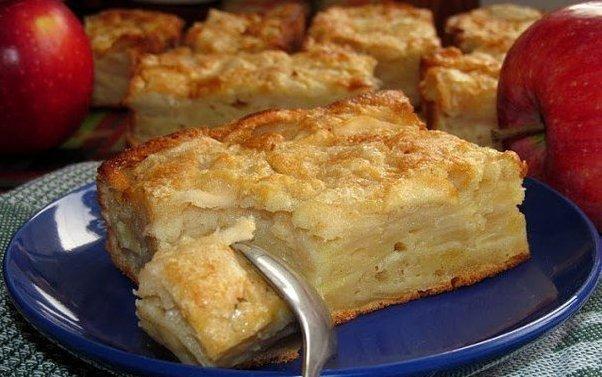 ЯБЛОЧНЫЙ ПИРОГ-СУФЛЕ Необычайно вкусный пирог. Угощайтесь! ИНГРЕДИЕНТЫ: ● 1