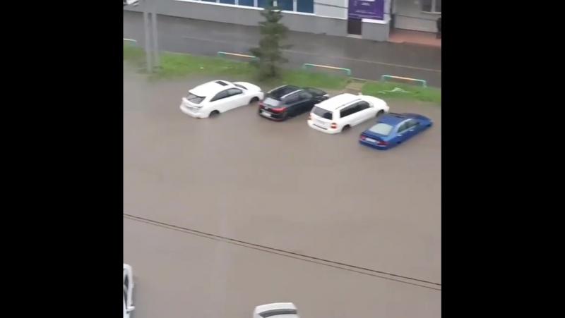 Потоп в Красноярске. Улица 78 Добровольческой бригады