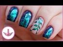 Хлопья Юки | Дизайн ногтей веточка | Маникюр втирка в гель лак