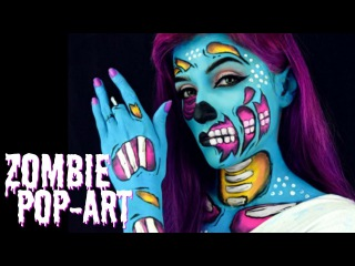 Maquillaje Halloween - Zombie PopArt /