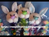 CONEJITO PARA BABY SHOWER (PAPEL CREPE)  PAPER BABY SHOWER BUNNY