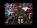 Shawn Kemp` 2 Slams @ PHI - 12/9/96